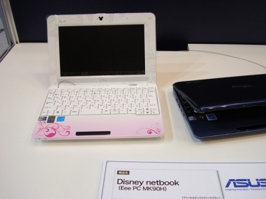 Intel's cool netbook display. This is a Disney netbook.