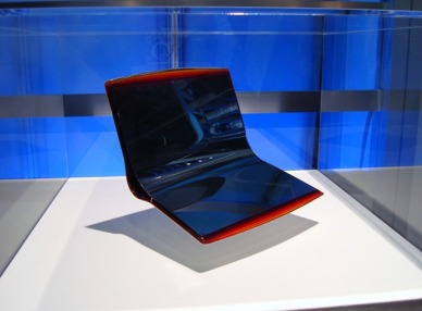 Sony's flexible-screen Vaio laptop concept.