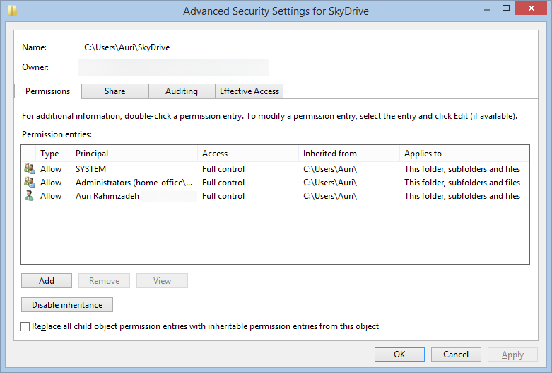 Possible SkyDrive Sync Fix for Windows 8 1 | Auri's Blog