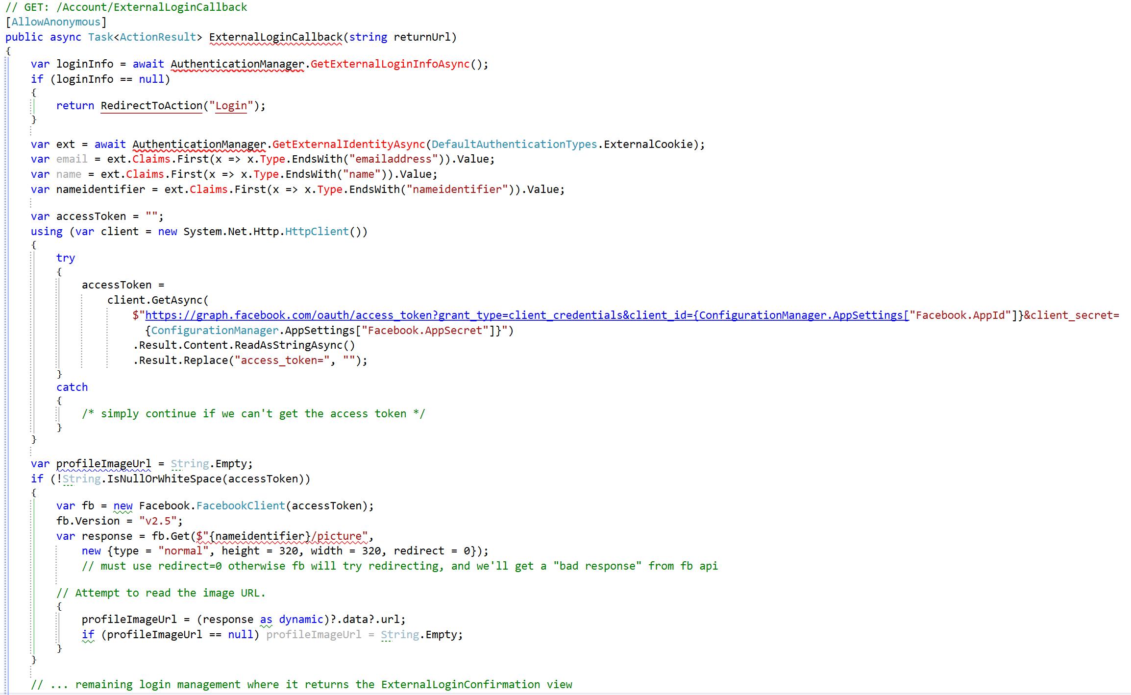 ExternalLoginCallback Code