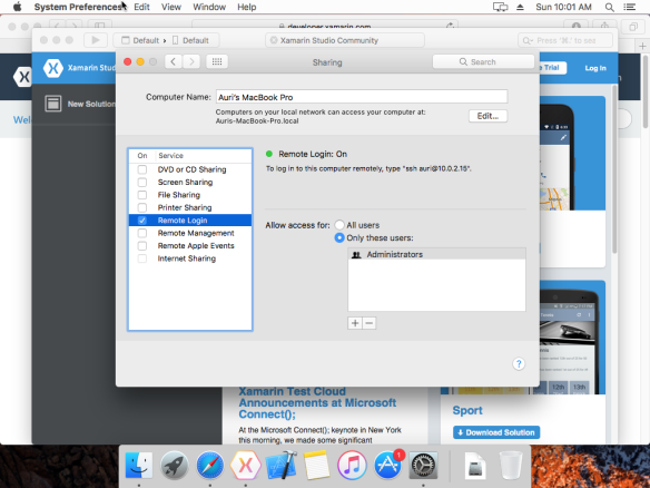 How To: Setting up macOS X Sierra on VirtualBox for Xamarin