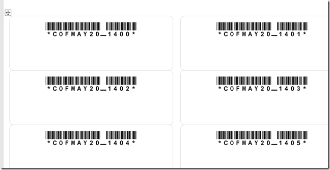 Barcodes on Avery Labels